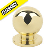 Fingertip Design Solid Round Knob Polished Brass 30mm